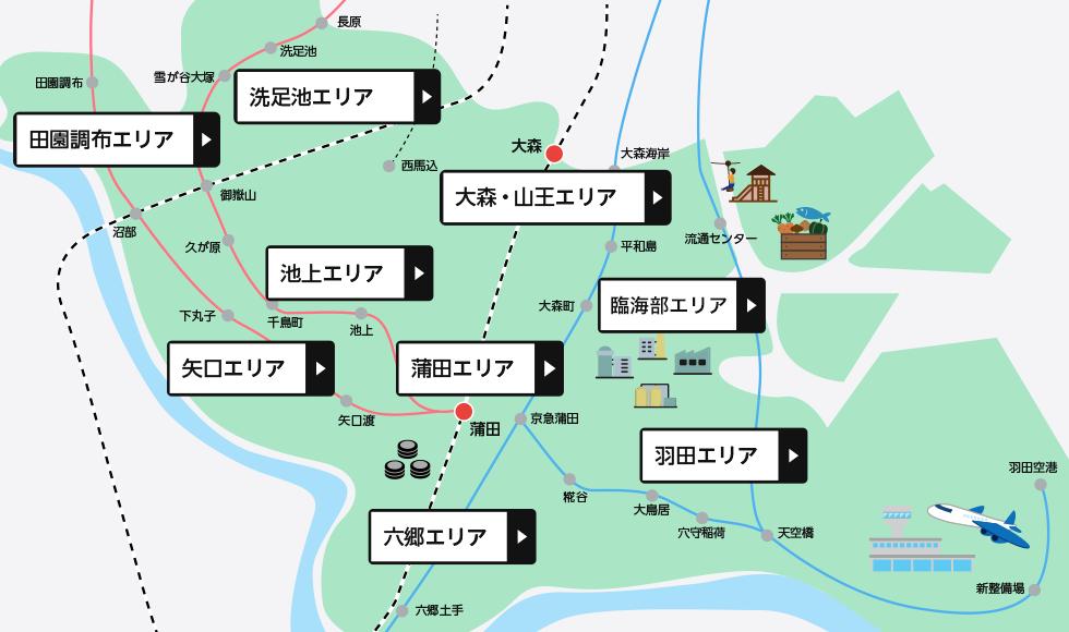 大田区エリアマップ